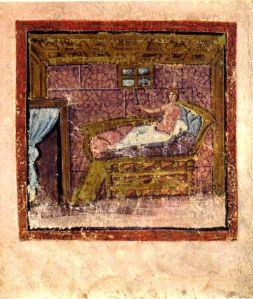 miniatura del codex vaticano de La Eneida